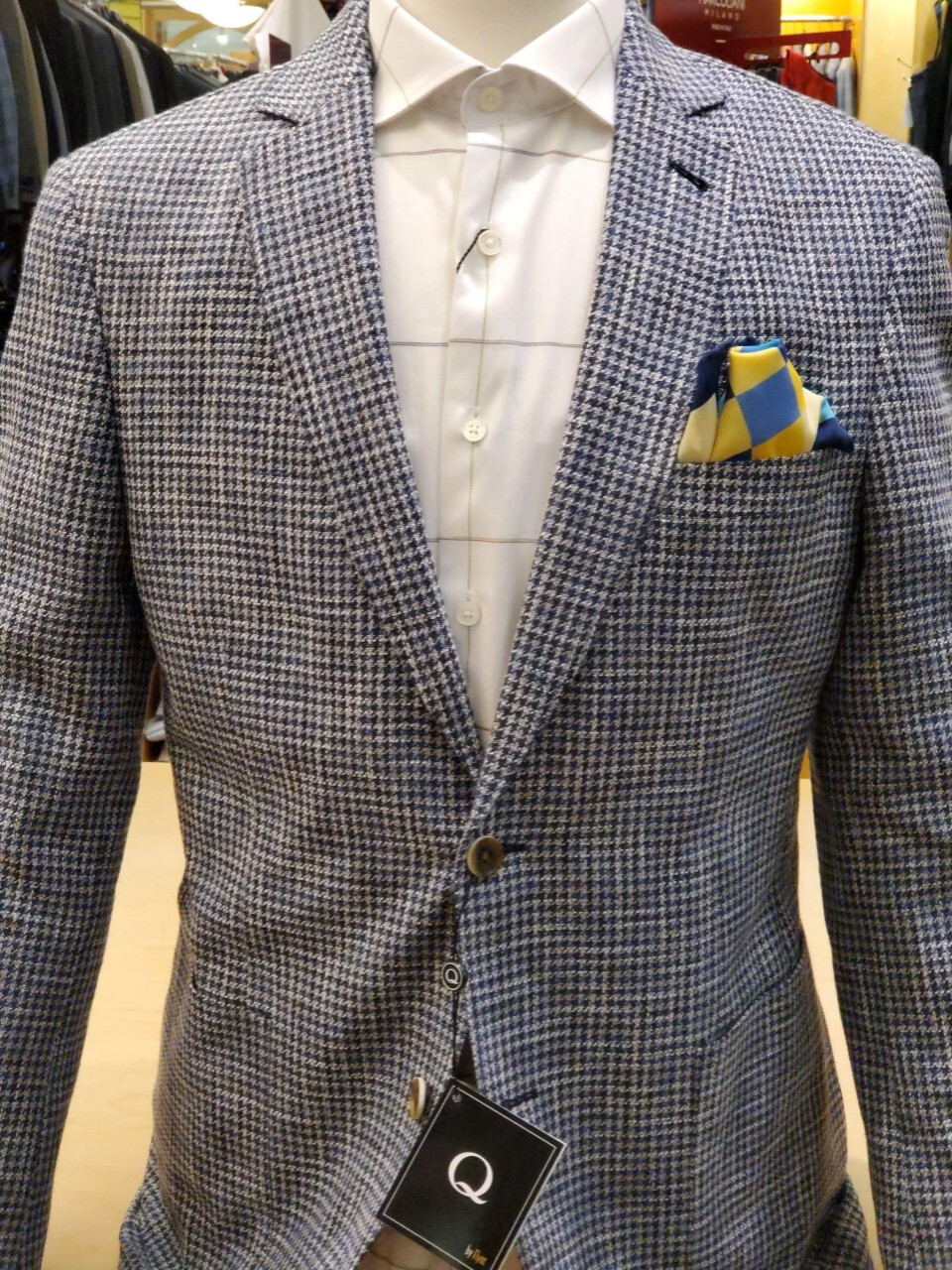 Q by Flynt silk/cotton/wool Burton Spring 2020 Sport-coat