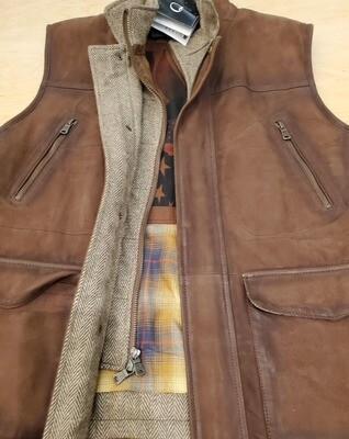 Q by Flynt Suede Vest with bib insert
