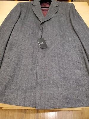 Paul Betenly wool herringbone topcoat 3/4 length