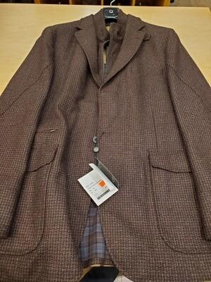Q by Flynt Hybrid Burgundy Wool Blazer/Outerwear
