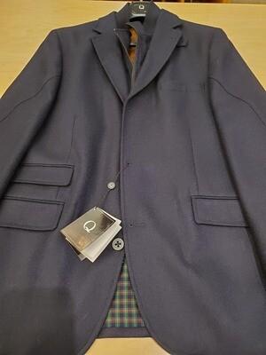 Q by Flynt Hybrid Navy Wool Blazer/Outerwear