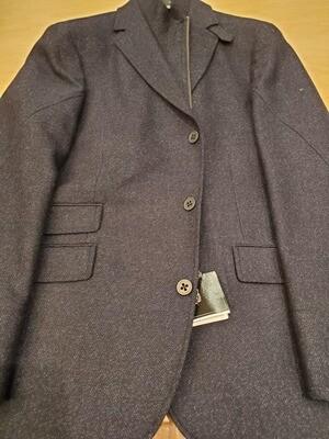 Q by Flynt Hybrid Navy Fleck Wool Blazer/Outerwear