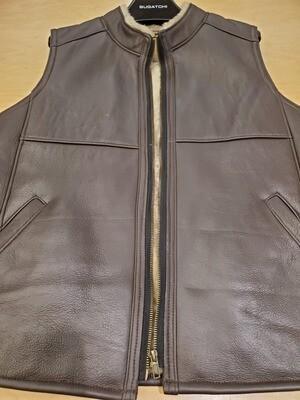 Sherling Vest w/ Fur Trim