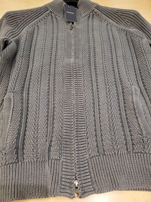 Kinross Knit Full Zip Cotton Sweater