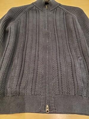 Kinross Blue vintage Full zip cotton Sweater