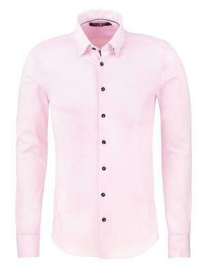 Stone Rose Texture Knit Long Sleeve Shirt