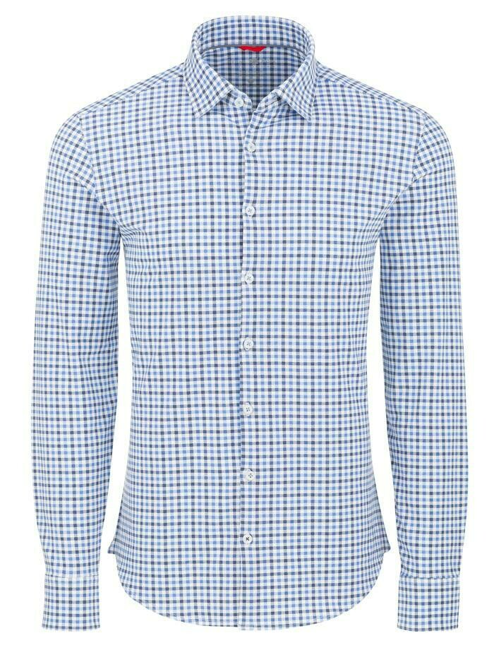 Stone Rose Check Performance Knit Long Sleeve Shirt