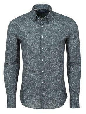 Stone Rose Ditsy Print Long Sleeve Shirt