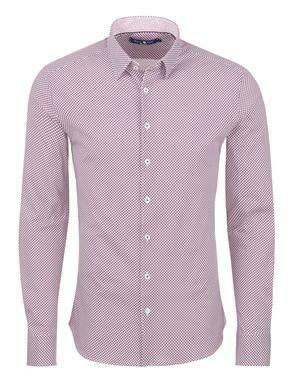 Stone Rose Geometric Knit Long Sleeve Shirt