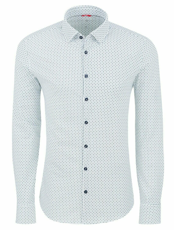 Stone Rose Geometric Performance Knit Long Sleeve Shirt