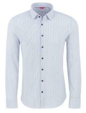 Stone Rose Stripe Performance Knit Long Sleeve Shirt