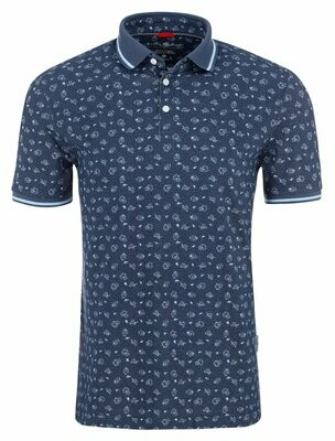 Stone Rose Novelty Print Performance Polo