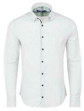 Stone Rose Geometric Print Long Sleeve Shirt