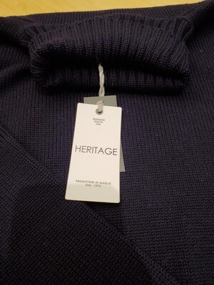 Heritage Navy or Gray soft wool Turtleneck