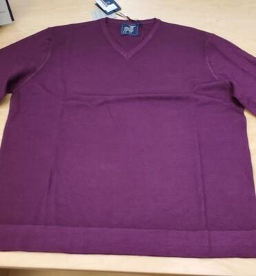 Raffi Prunga V neck light weight merino wool sweater