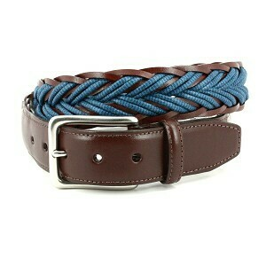 Torino Braided Leather Edged Belts