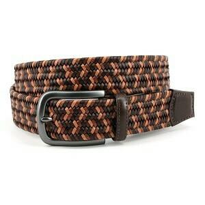 Torino Brown/tan Braided Belt