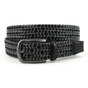 Torino Black/Gray Braided Belt