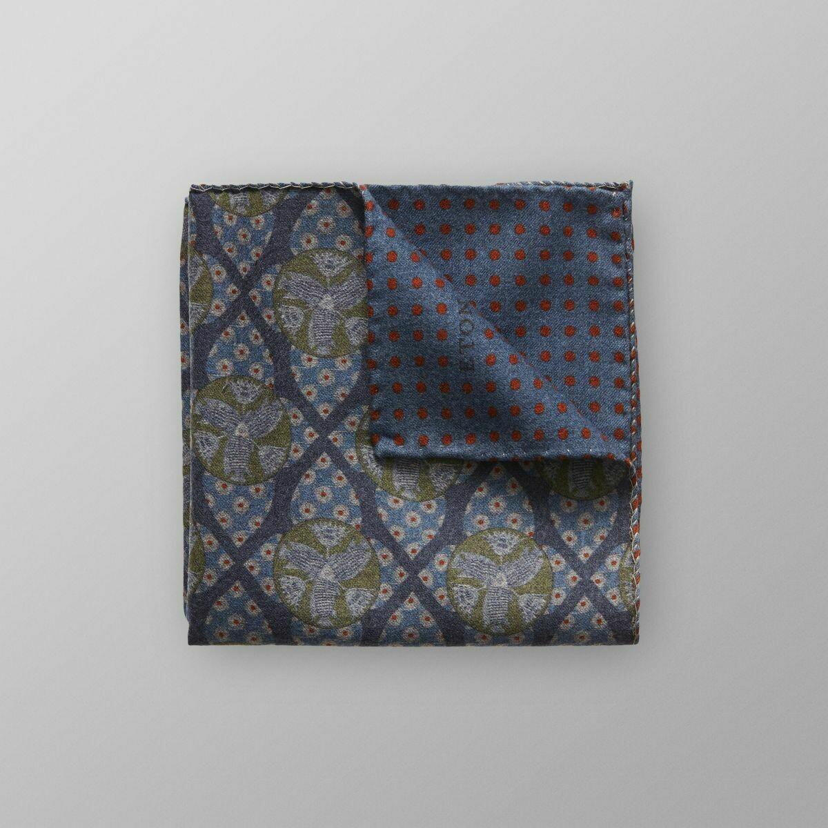Eton Blue Geometric & Dotted Pocket Square