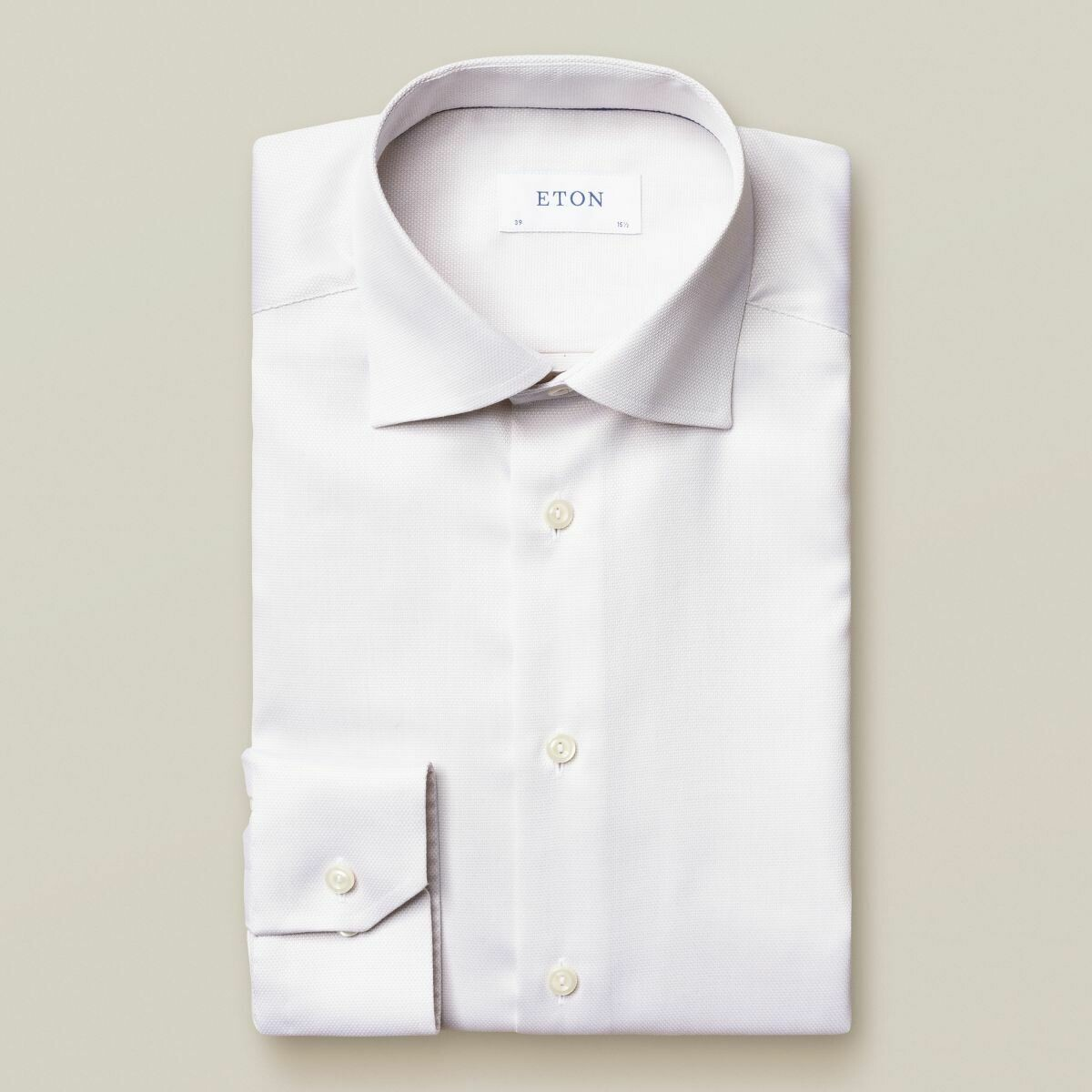 Eton Contemporary Fit Beige Diamond Weave Shirt