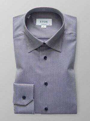 Eton Navy Melange Oxford Shirt