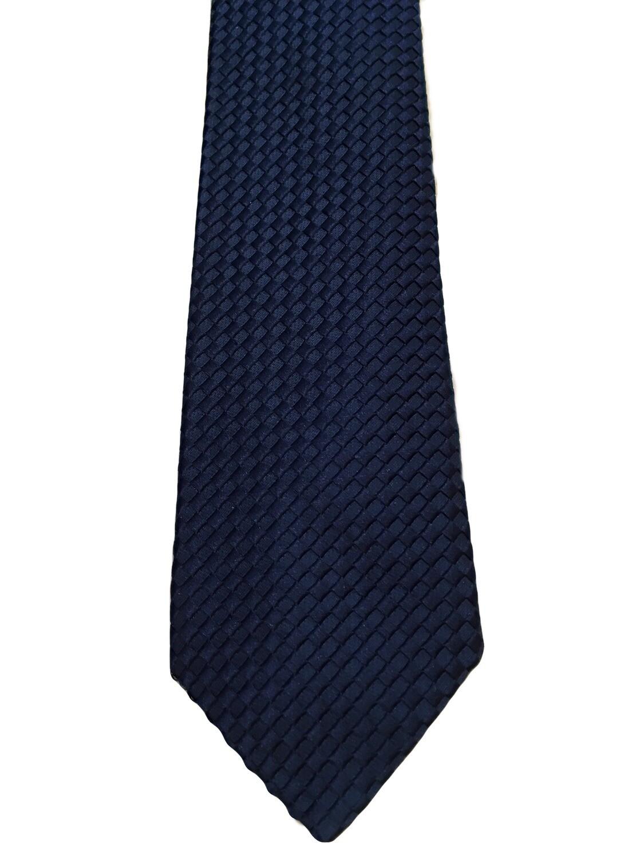 VIV Italian Textured Geometric Silk Tie