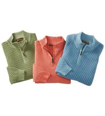 Lenor Romano Textured Knit Sweater