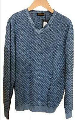 Lenor Romano blue turquoise V-neck sweater