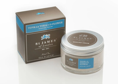 St. James of London Tonka & Tobacco Flower Shave Cream Jar