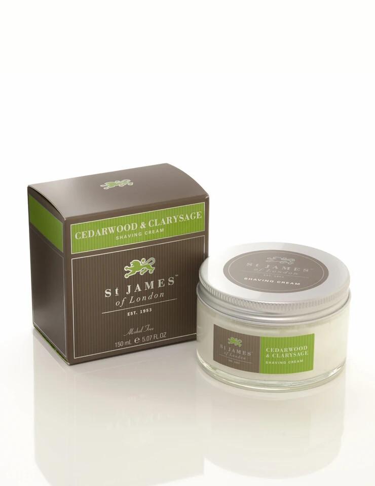 St. James of London Cedarwood & Clarysage Shave Cream Jar