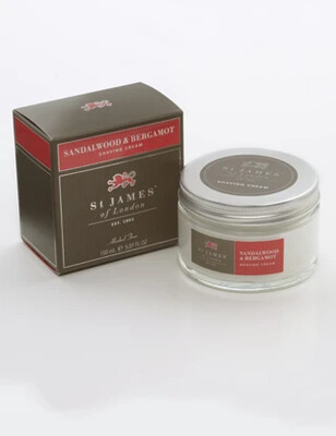 St. James of London Sandalwood & Bergamot Shave Cream Jar
