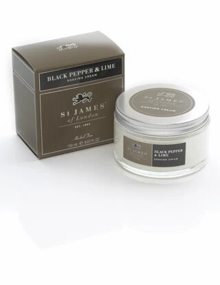 St. James of London Black Pepper & Lime Shave Cream Jar