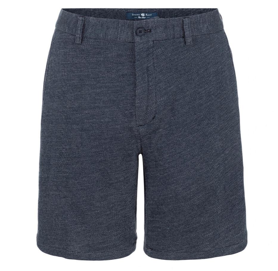 Stone Rose Indigo Knit Shorts