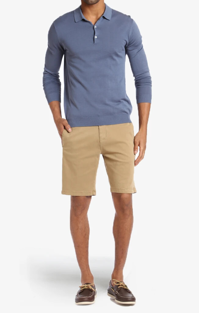 34 Heritage Nevada Shorts In Khaki Twill