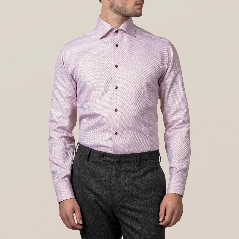 Burgundy Zic-Zac King Twill Contemporary Fit Shirt