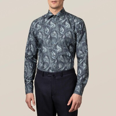 Midnight Blue Paisley Drop Contemporary Fit Shirt