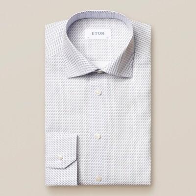 Rocket Print Poplin Contemporary Fit Shirt