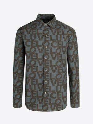 Bugatchi LOVE Block LS Shaped Fit Shirt