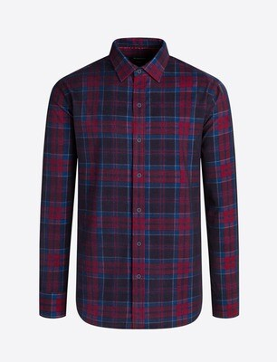 Bugatchi Plaid Corduroy Shaped Fit LS Shirt