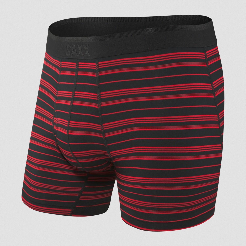 SAXX Platinum Black/Red Tidal Stripe Boxer Brief
