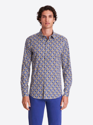 Bugatchi LS Floral Printed Shaped Fit COMFORT STRETCH Shirt