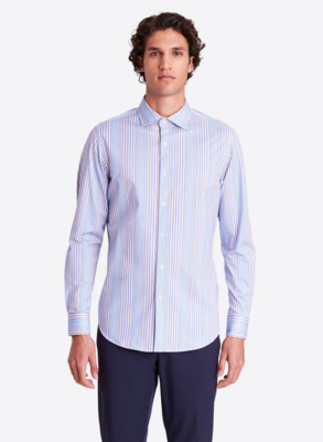 "Bugatchi LS ""Oooh"" Cotton Striped COMFORT STRETCH Shirt"