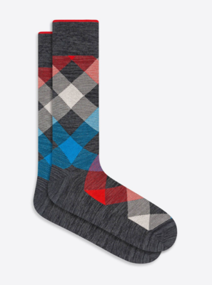 Bugatchi Diamond Check Sock (6 Colors)