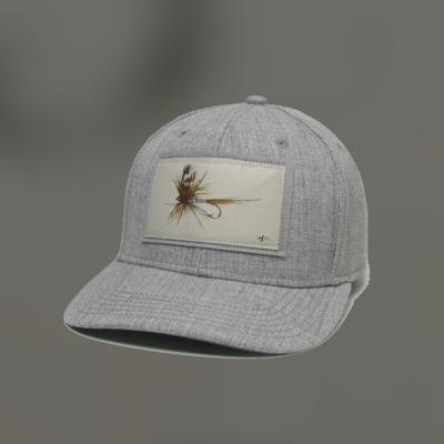 Adams Fly Heather Gray Mid Pro Buckle Back Hat