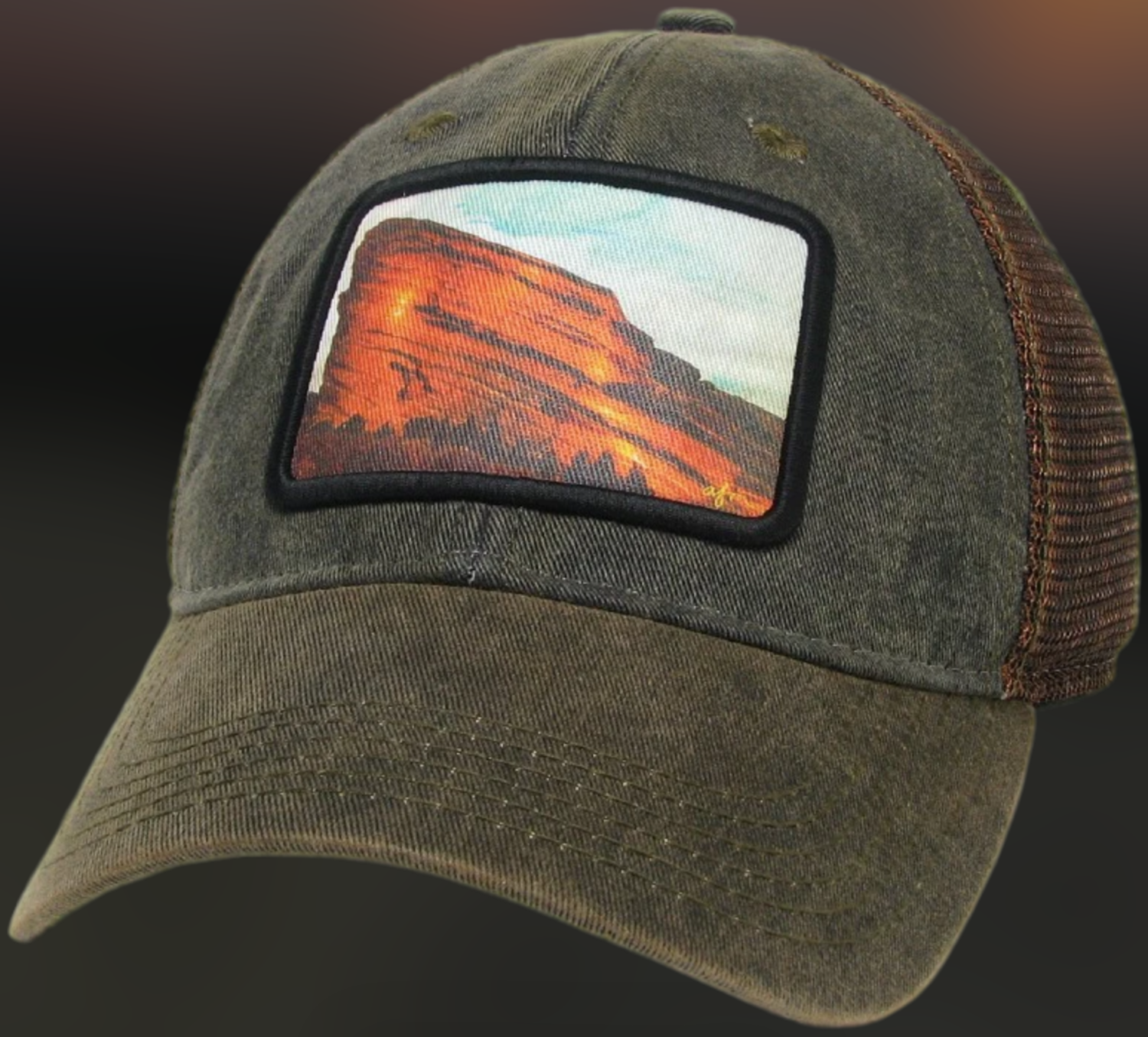 Red Rocks Old Favorite Greaser Trucker Hat