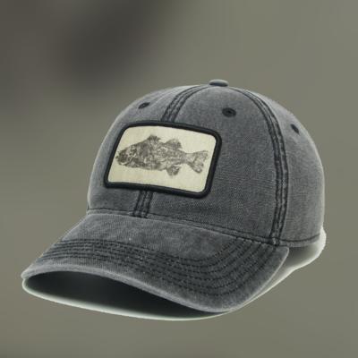 Black & White Fish Buckle Hat