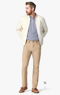 34 Heritage Charisma Relaxed Straight Pants in Khaki Fine Touch