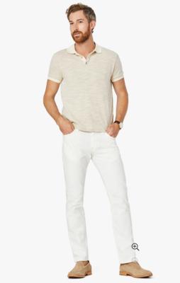 34 Heritage Courage Straight Leg Jeans In White Denim