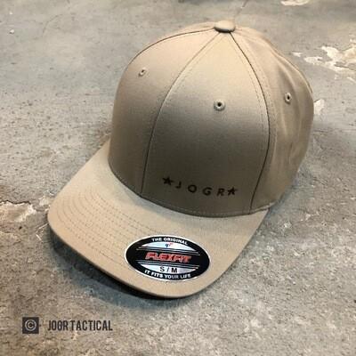 JOGR Tactical FlexFit Hat (Khaki) S/M