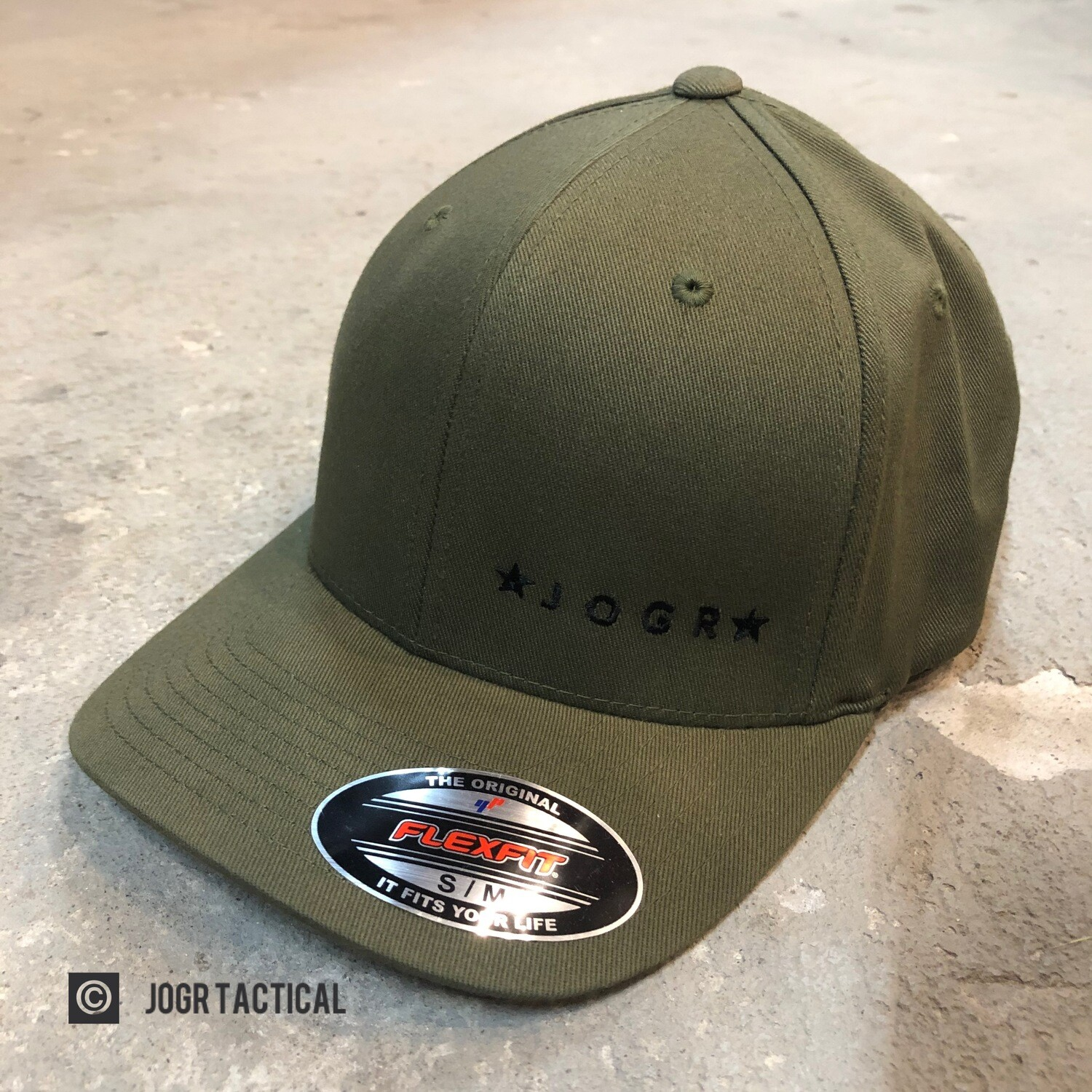 JOGR Tactical FlexFit Hat (Green) L/XL
